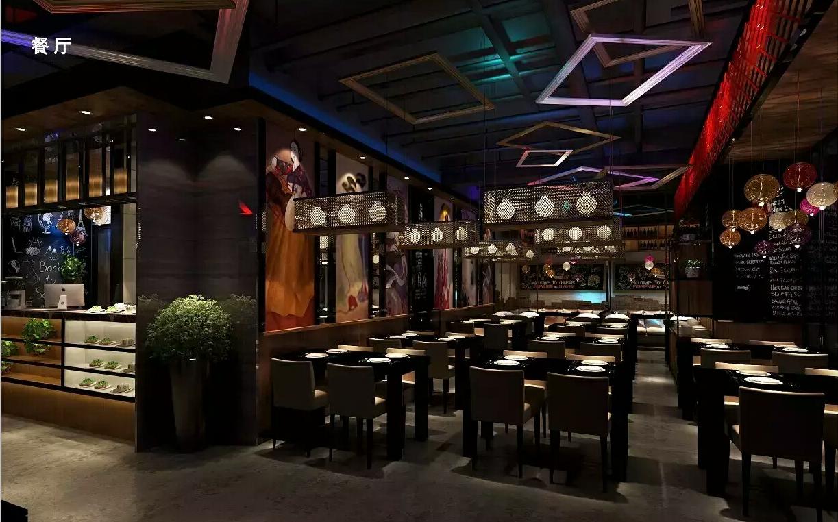 石墨韩国休闲餐厅装修设计
