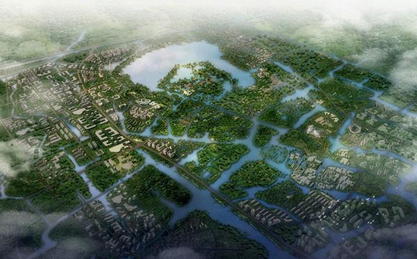 绍兴镜湖新区环湖区域(休闲亿博团队全天实时计划景观带)概念性规划方案