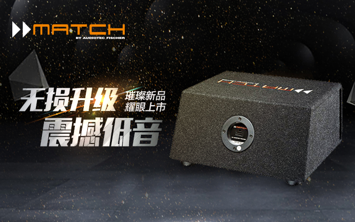 实力C位!耀眼新品德国MATCH PP10E-Q低音炮