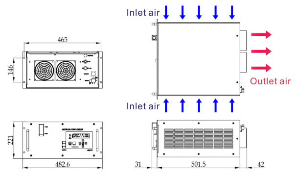 air cooled chillers hc003  5u  series