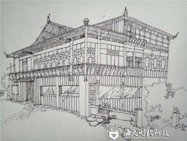 建筑装饰工程技术专业手绘作品——谭智