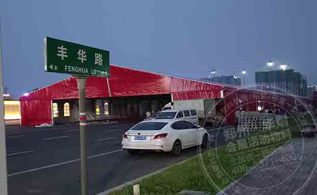 驻马店鹏宇城红色篷房出租