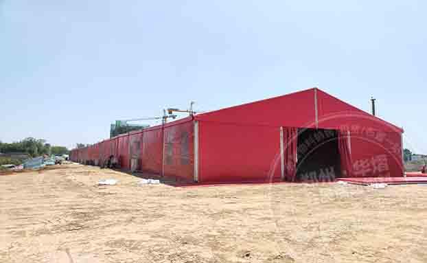 潢川红玺台红色篷房出租