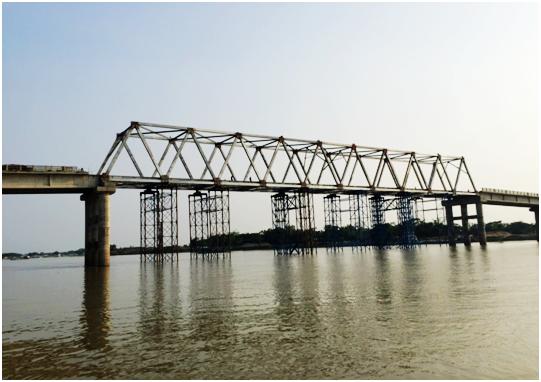 孟加拉115米模块化钢桁桥