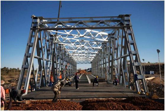 苏丹麦洛维75米轻桁桥