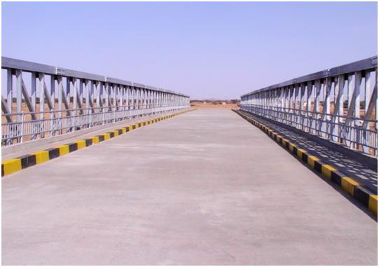 苏丹120米HZCB450装配式公路钢桥(ABU ZEEMA BRIDGE)