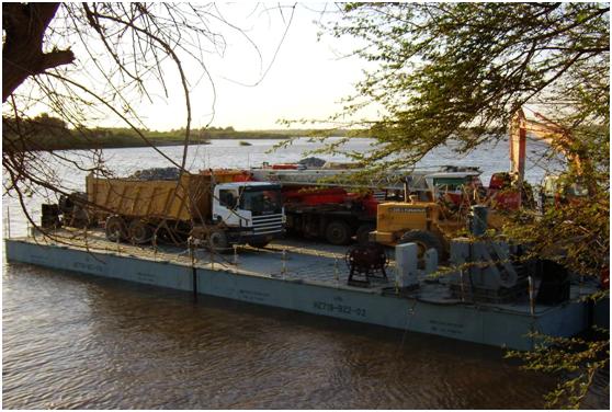 苏丹尼罗河施工平台