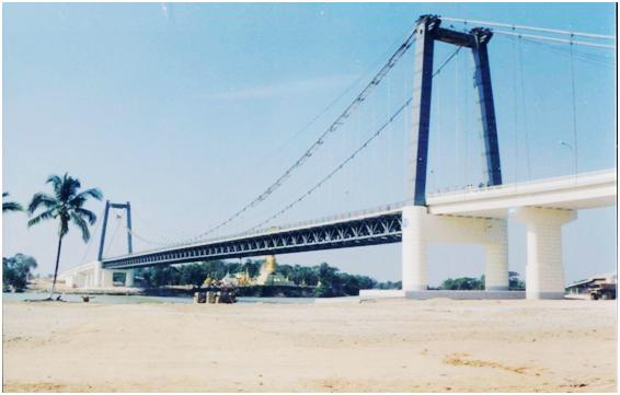 缅甸258米悬索桥 (PATHEN BRIDGE)