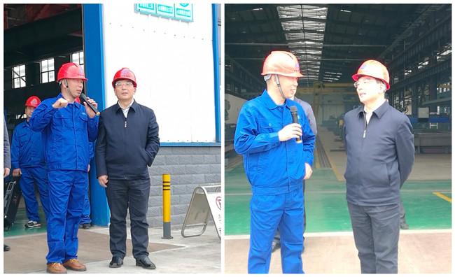 湖北省副省长曹广晶一行视察华舟重工赤壁应急产业园调研