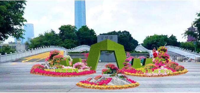共庆祖国70华诞,城基生态助力厦门2019年市花展!!