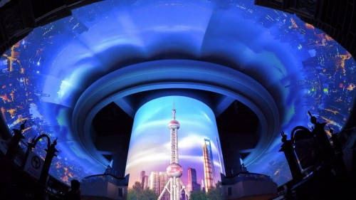 松下工程投影机打造世界最大的穹顶投影秀