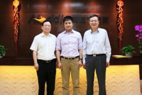 国信招标集团副总裁、北大PE联盟副主席与中国动漫游戏产业基金总经理来访
