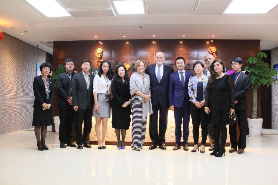 法国Sopra Steria Group全球副总裁莅临阿拉丁集团