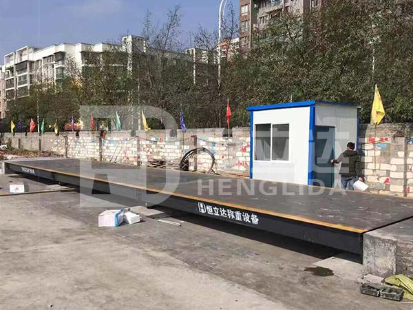 淩晨三點,陝西漢中120噸大地磅連夜安裝成功