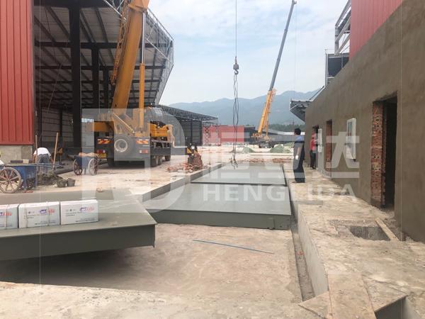 四川省宜宾市筠连县3*15米100吨地磅安装完成