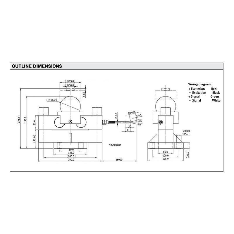 MDB双剪切梁式传感器(型号:MDB)