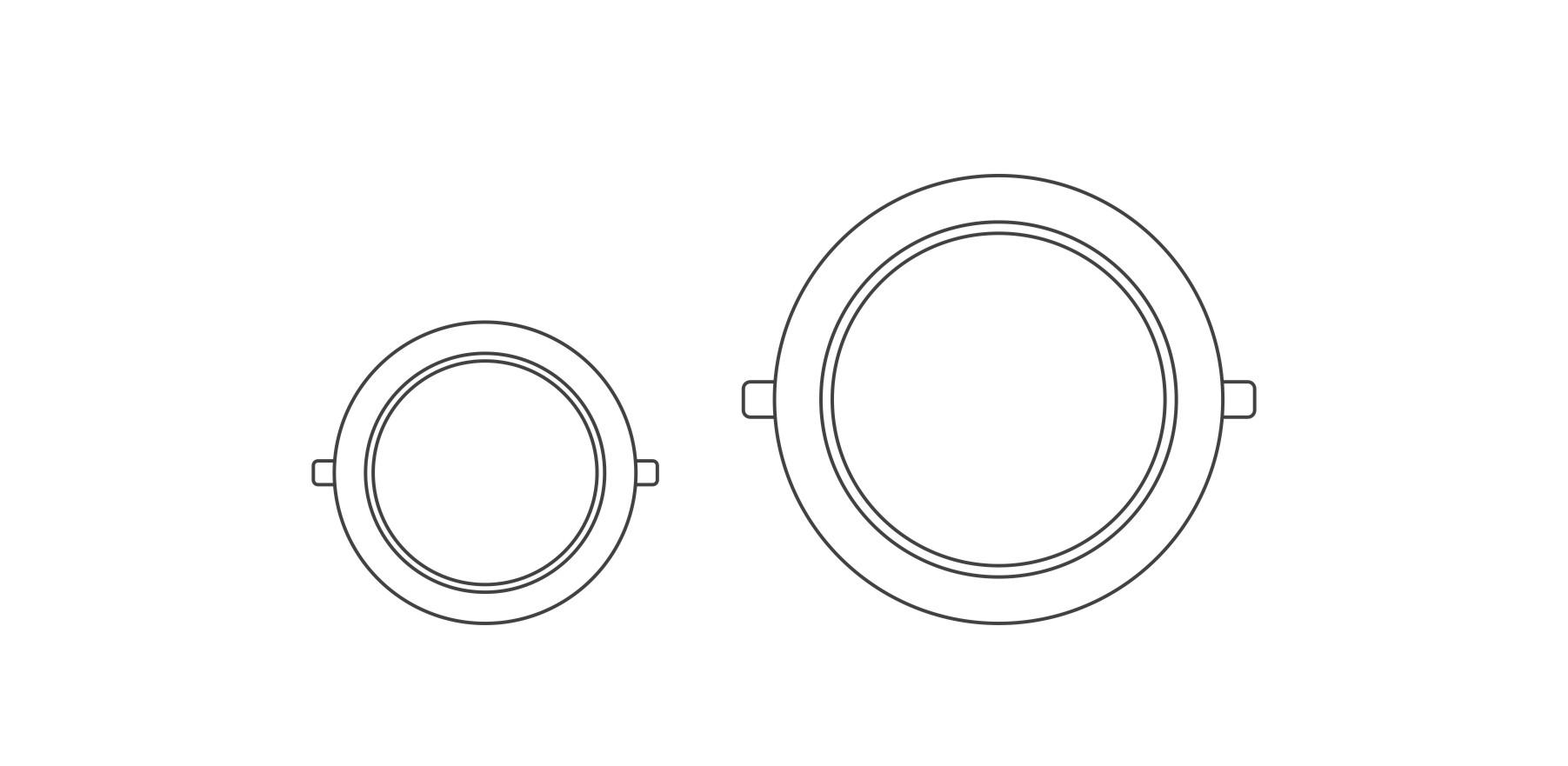 圆形系列面板灯