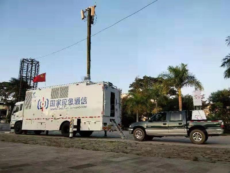 我公司生产的应急通信保障车为云南省文山自治州人防应急演习提供通信保障