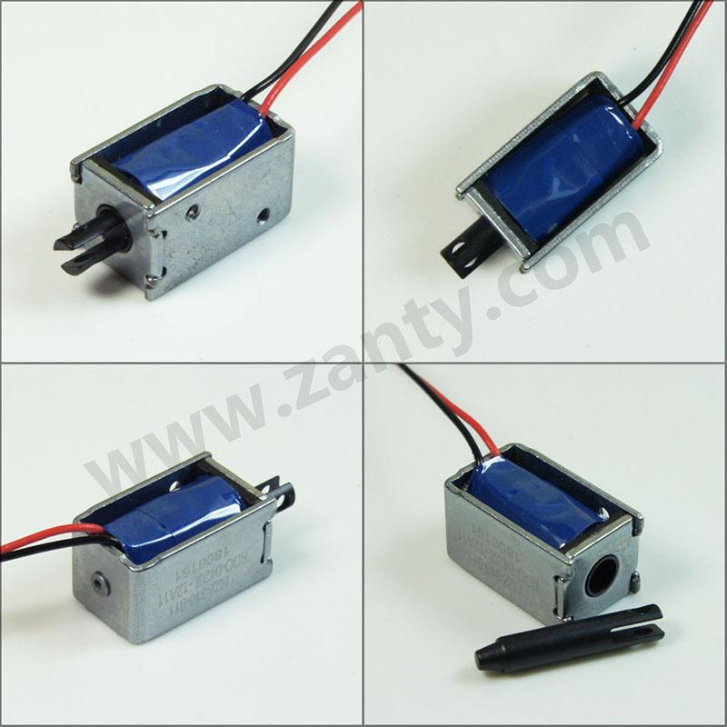 电磁铁SDO-0420L 储物柜文件柜智能锁具用小型推拉直动电磁铁螺线管