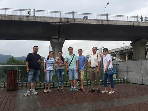 长沙科友党支部7.2长沙橘洲徒步行