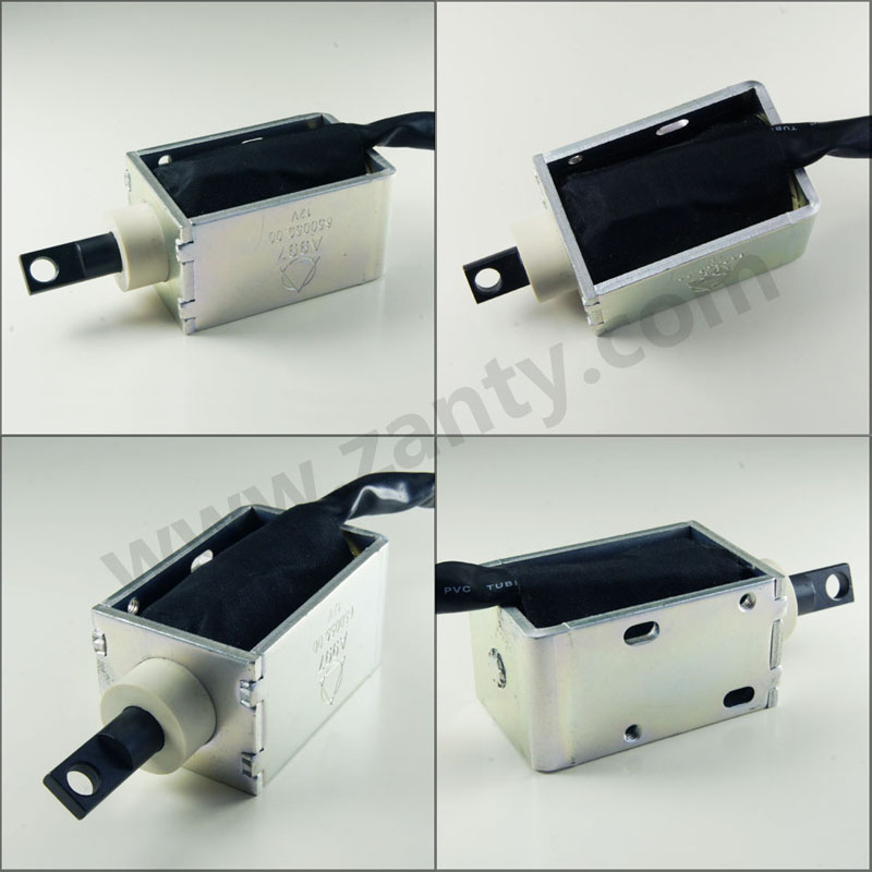 电磁铁SDO-1859L 汽车后备箱电动尾门锁用大推力推力电磁铁螺线管