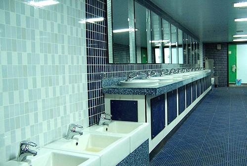 Deck rear lavatory