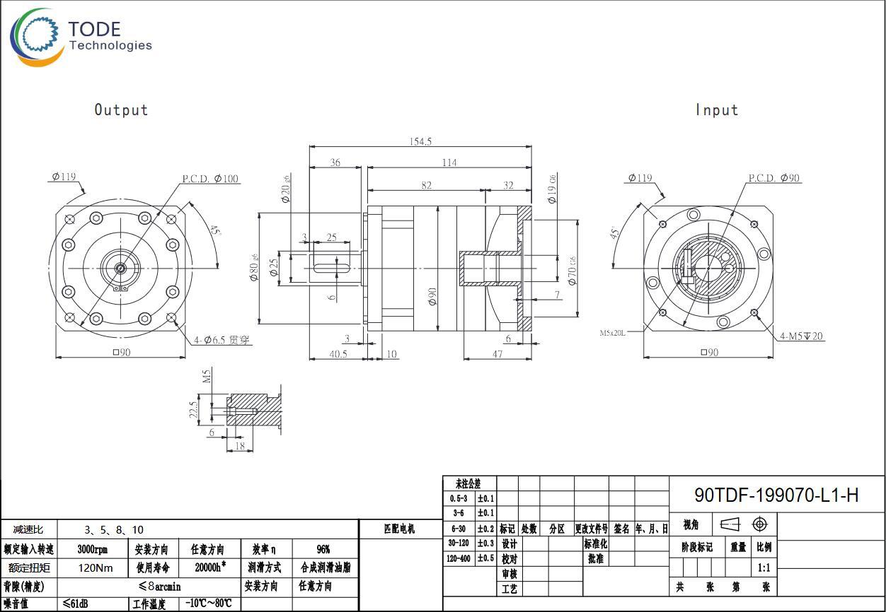 90TDF单双级系列行星减速机