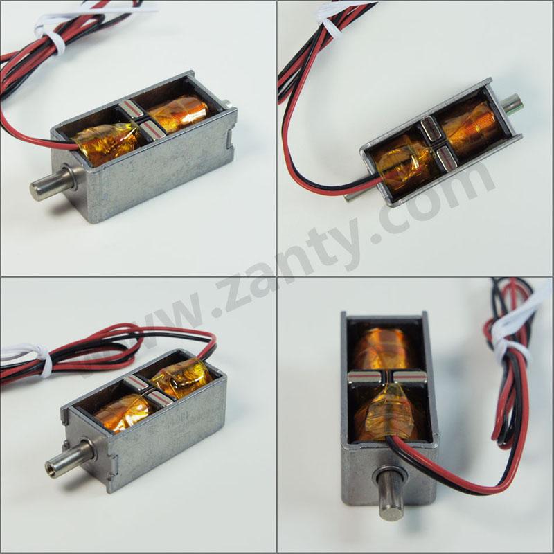 SDK2-0735S双保持电磁铁 电动汽车直流充电枪电子锁双向自保持电磁锁