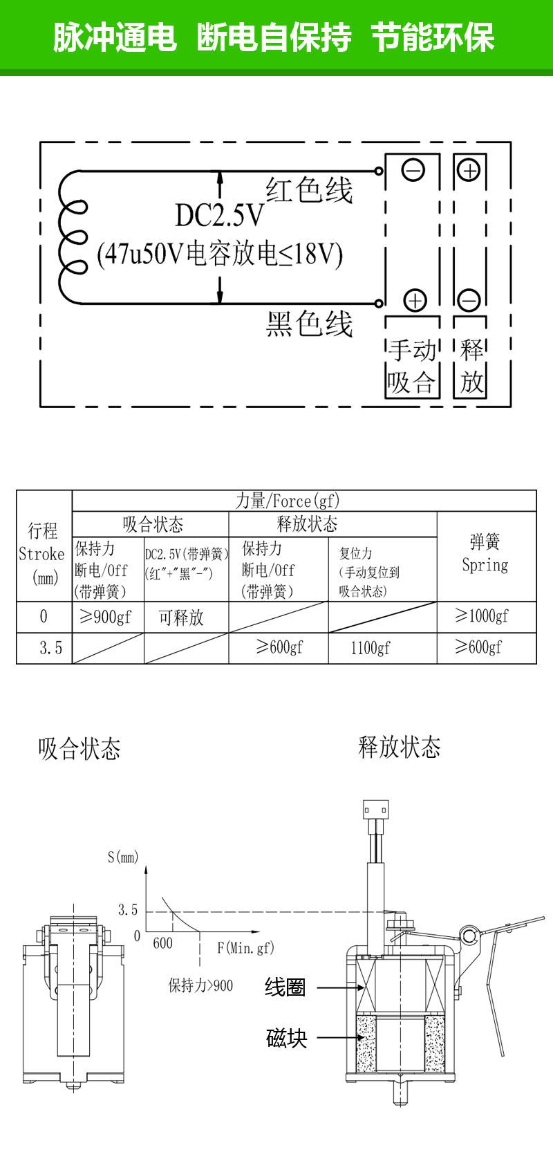 SDK-0930S单保持电磁铁 漏电保护开关安全电子锁自保持式电磁铁螺线管