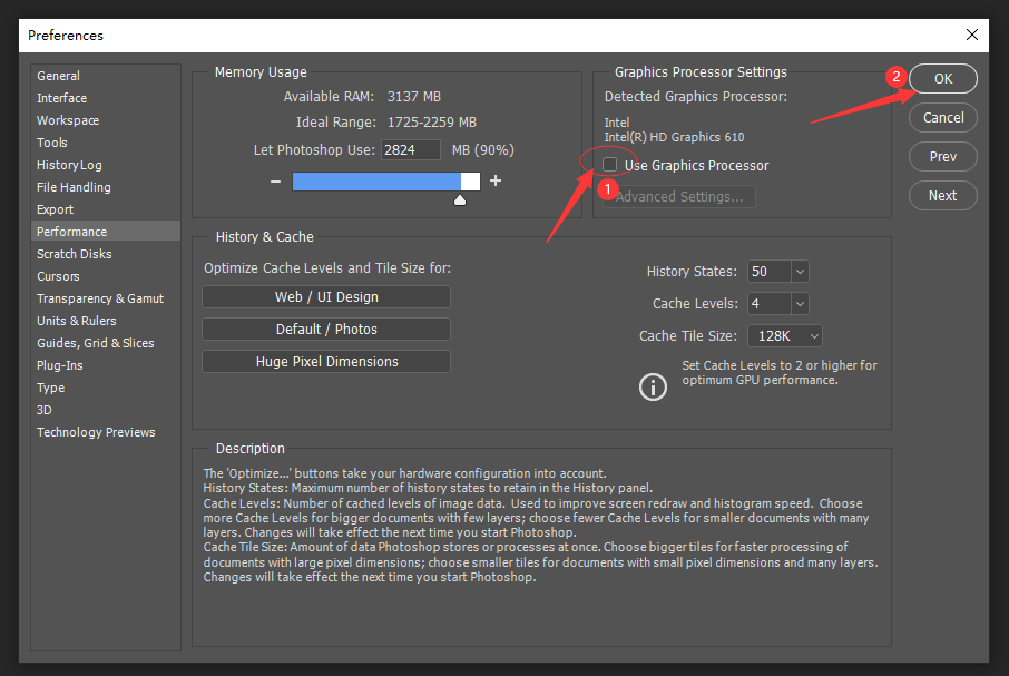 If there is a lag in your linework on PS with the Pen Display, it is likely caused not only by issue of the configuration of your computer and the tablet,but also the ps setting. We suggeat that you can operate as the following route.