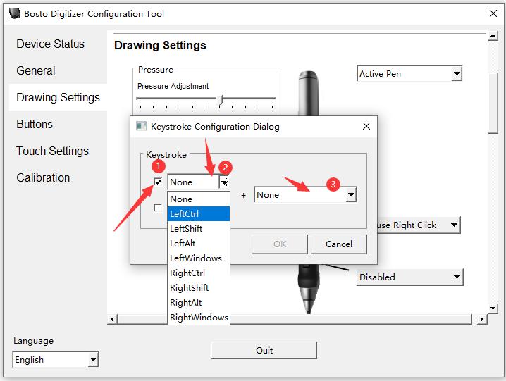 How to customize pen press keys?