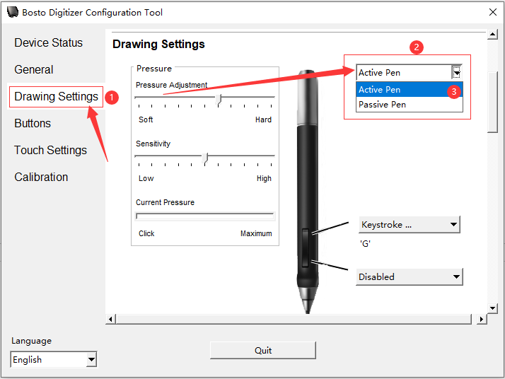 What to do if the pen buttons can not work,but the pen can work on the drawing issues
