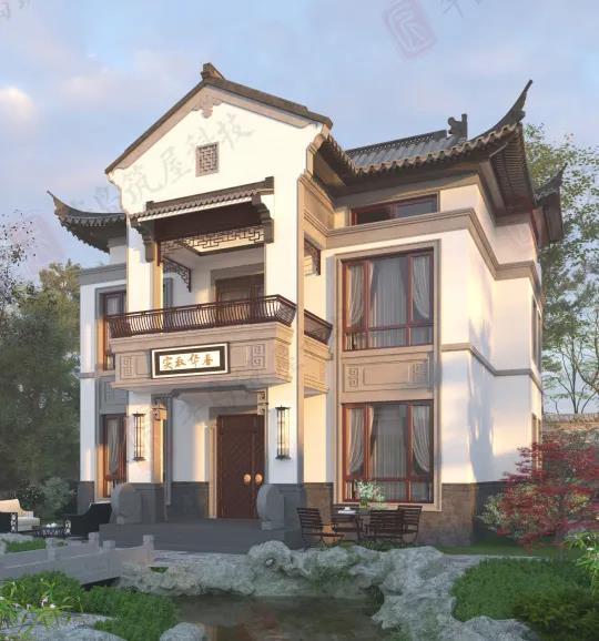 筑屋匠乡村新中式别墅设计:交融古今艺术,匠造荣耀宅邸