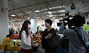 广州电视台今日报道采访照片