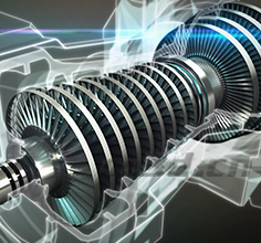 Analysis of power generation turbine components