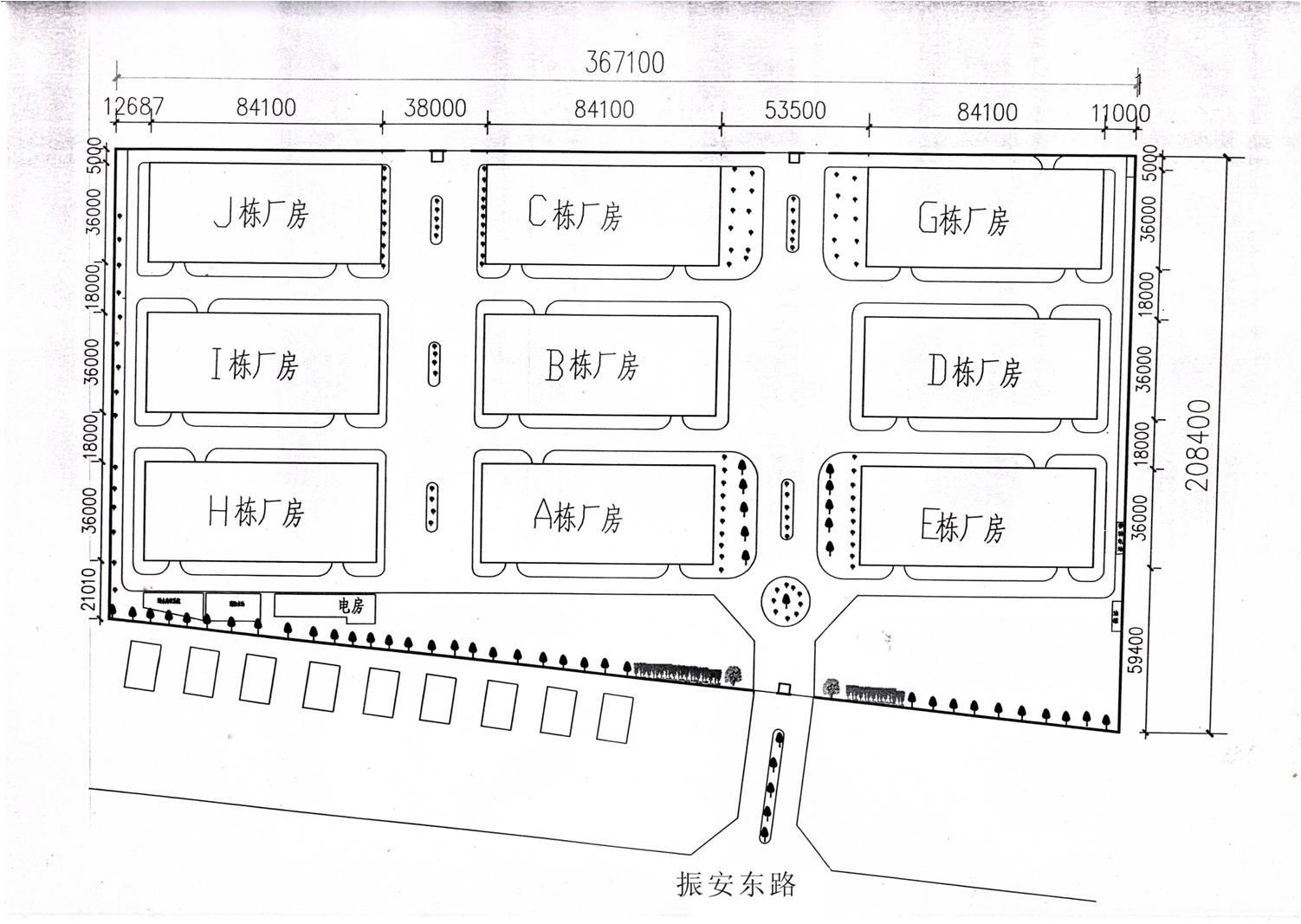 长安平谦工业园平面图