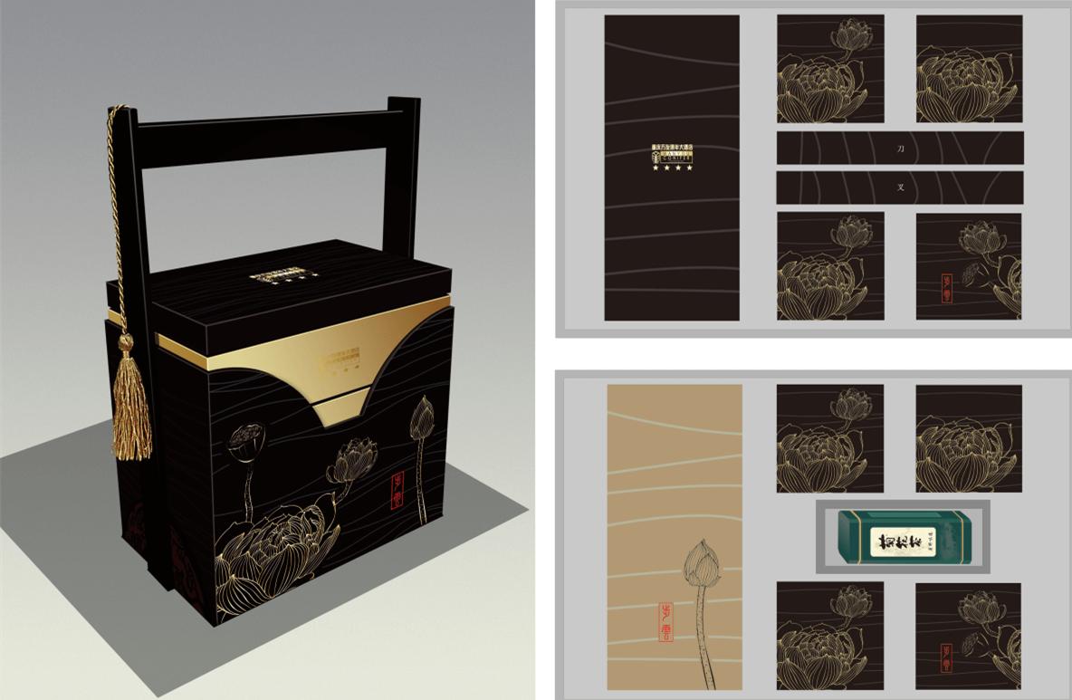 重庆万有康年中秋月饼-月饼包装设计