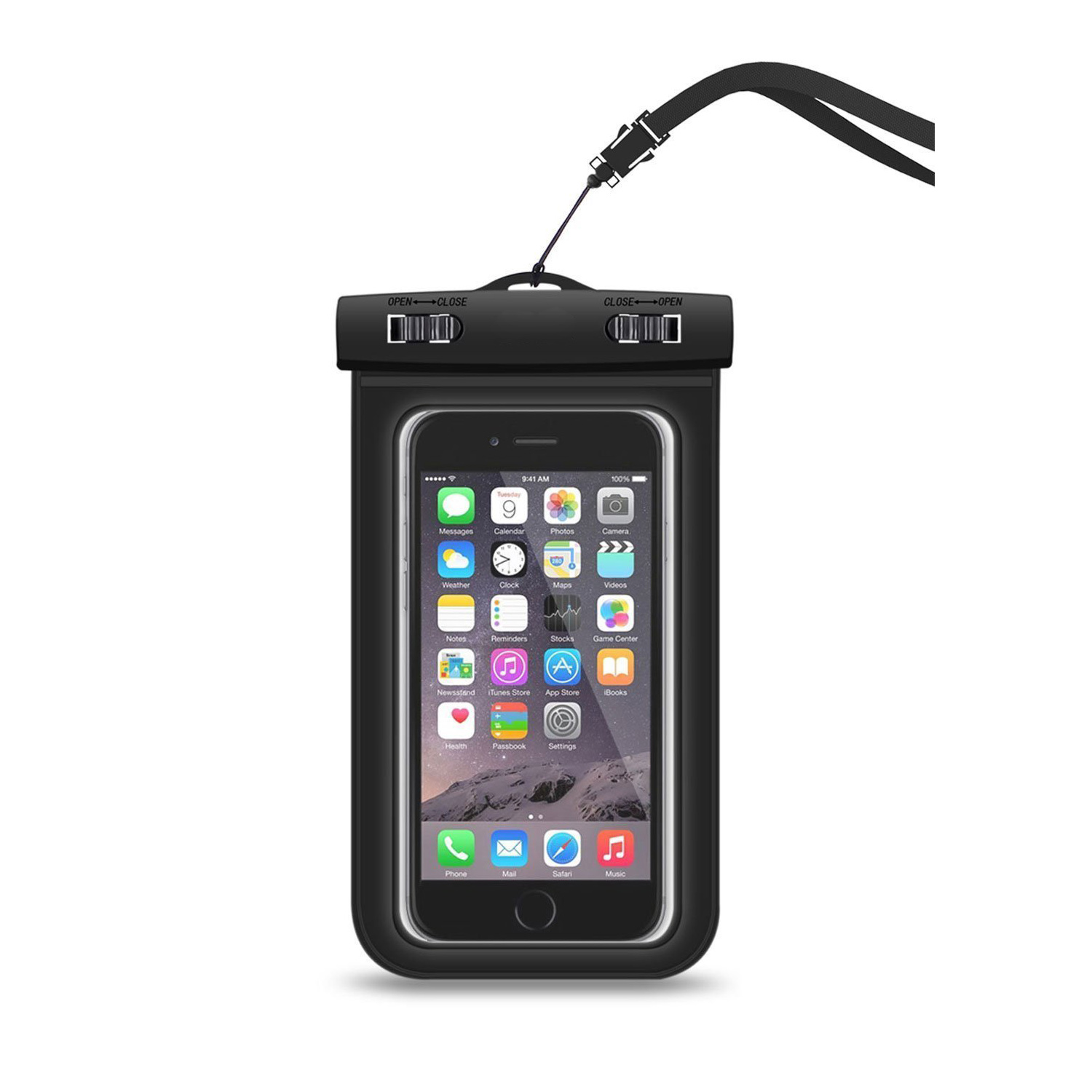 Universal Waterproof Case CellPhone Dry Bag Pouch for Apple iPhone 6 7 Plus