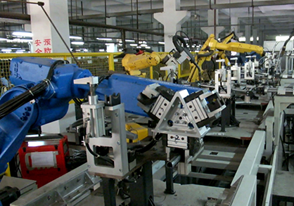 Automatic welding line