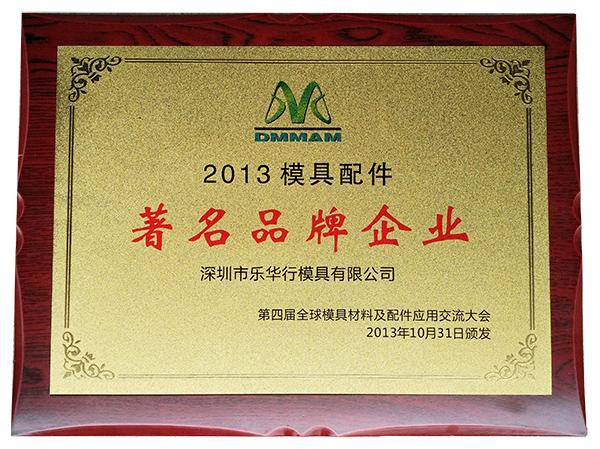 2013年著名品牌奖牌