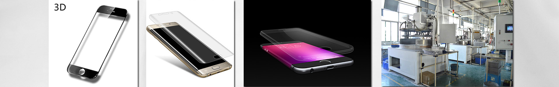 2.5D mobile glass & 3D curved glass