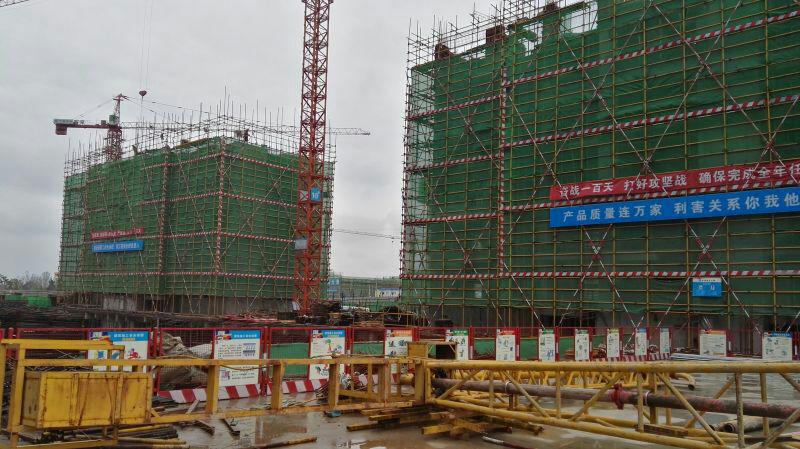 公司领导参观中建七局汉中项目工地