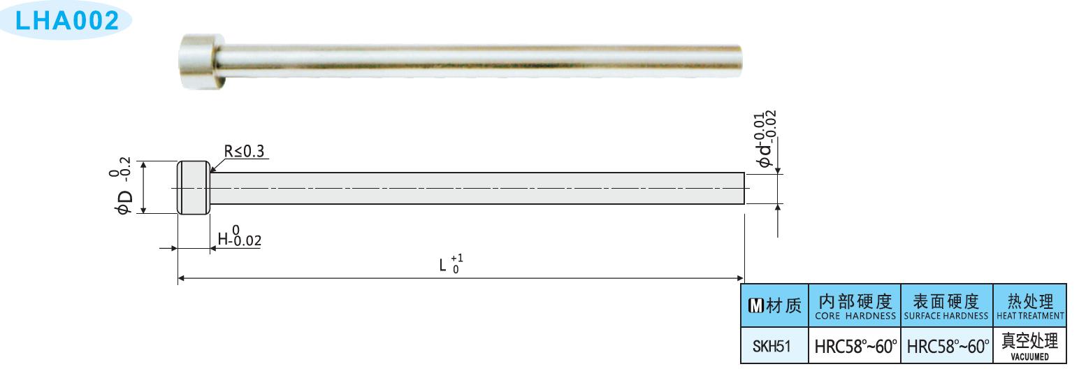 SKH51顶针、单节射梢