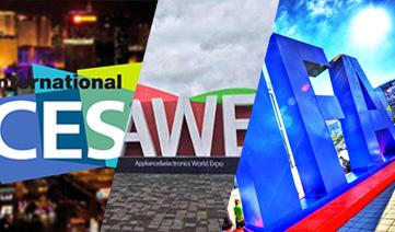 先后服务CES、AWE、IFA全球三大家电及消费电子展