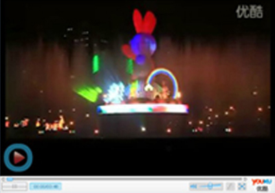 < video > Taipei square full-color laser show
