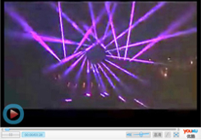 < video > stage laser show