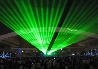 Anhui Hefei theatre landmark project water-cooled 30W green laser landmark 2