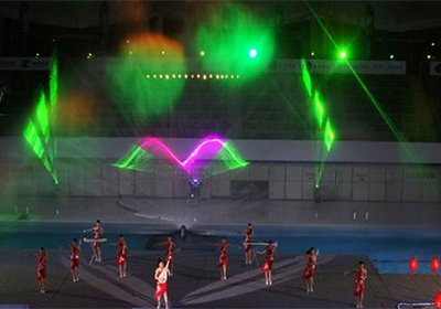 Shanxi Jincheng Musical Theatre Project air-cooled single green 10W 1 air-cooled full-color 5W 1