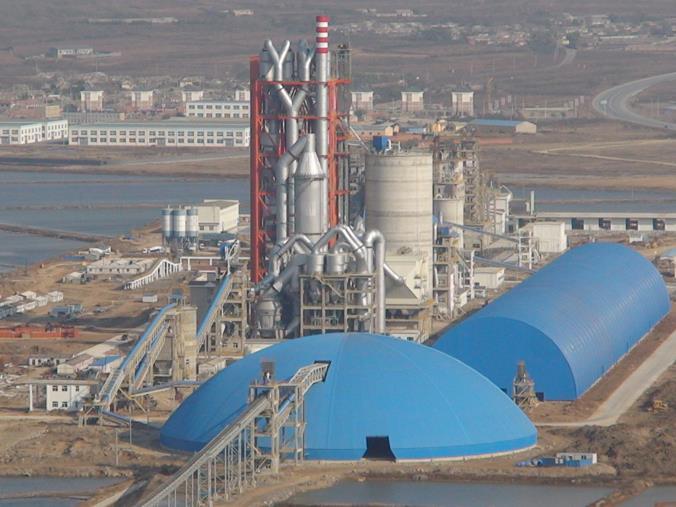 大連水泥廠搬遷異地改造新建5000t/d熟料生產線安裝工程