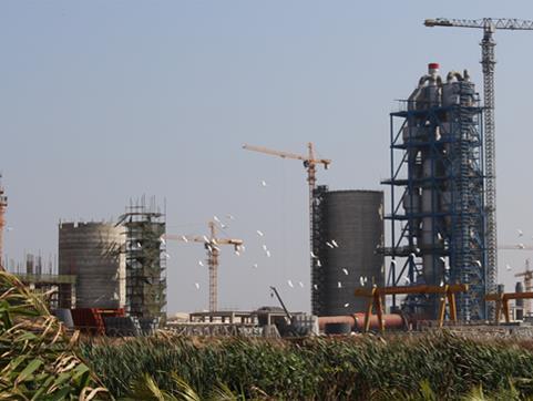 莫桑比克马普托5000t/d熟料水泥生产线安装工程